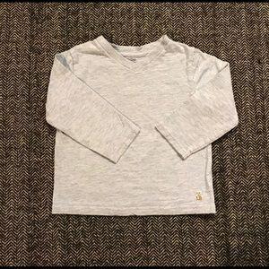 Gap v neck long sleeved T-shirt size 18-24m.
